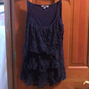 Charlotte Russe Navy Blue Lace Cami